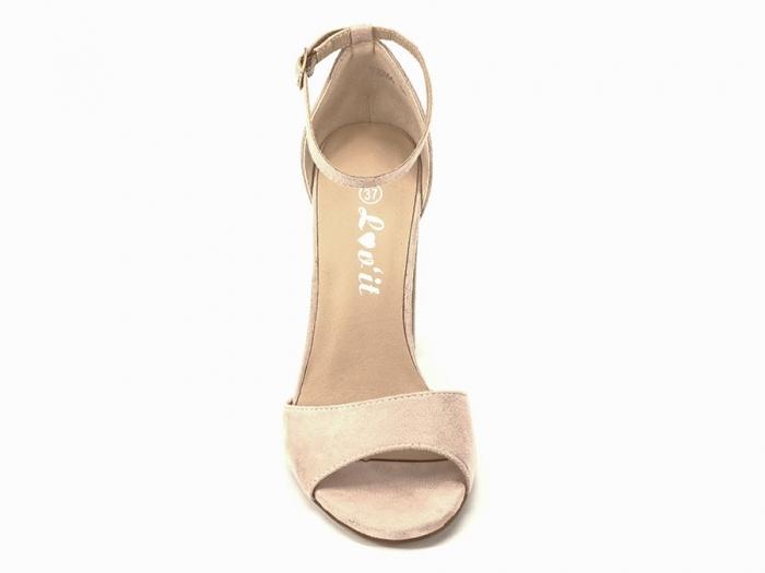 Sandale elegante bej cu toc inalt Afrodita 4