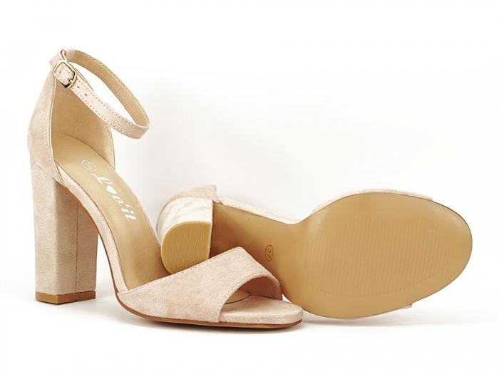 Sandale elegante bej cu toc inalt Afrodita 7