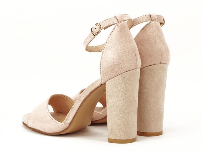 Sandale elegante bej cu toc inalt Afrodita 6