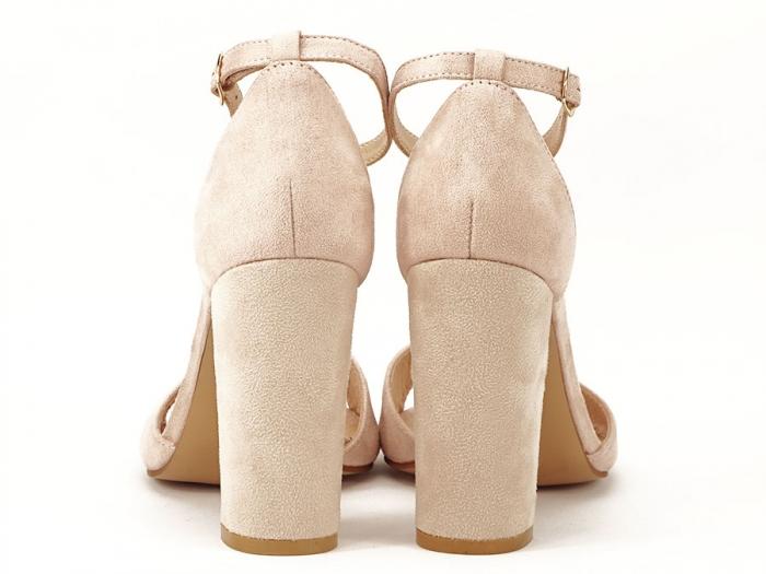 Sandale elegante bej cu toc inalt Afrodita 3