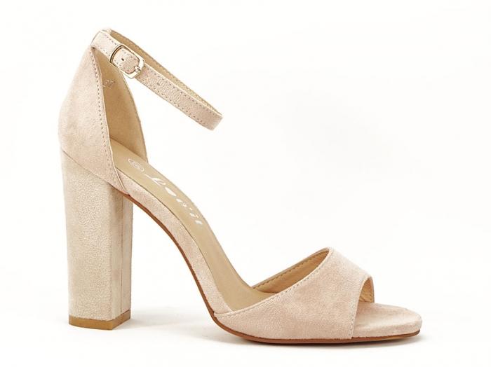 Sandale elegante bej cu toc inalt Afrodita 0