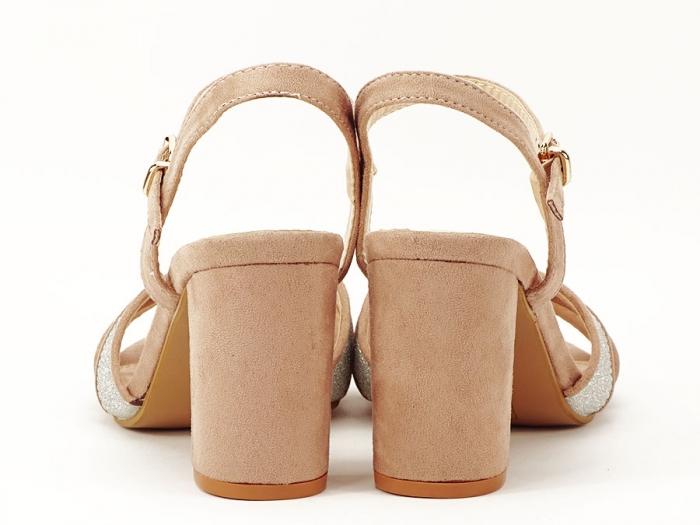 Sandalele elegante bej Carmen 3