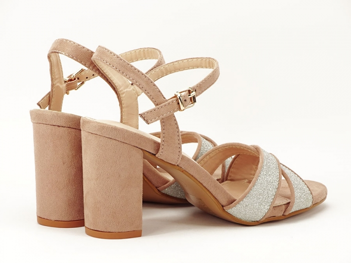 Sandalele elegante bej Carmen 2