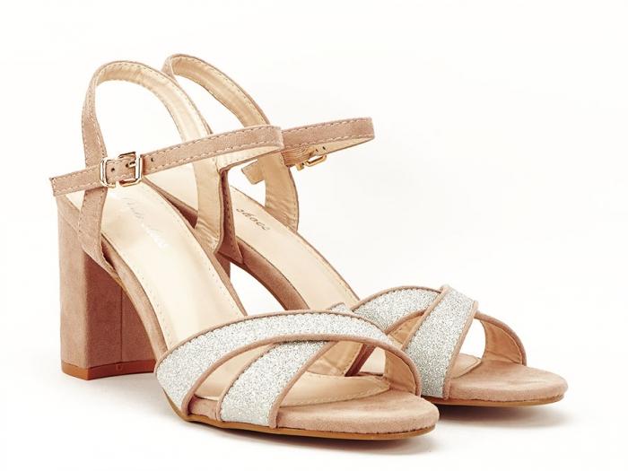 Sandalele elegante bej Carmen 6