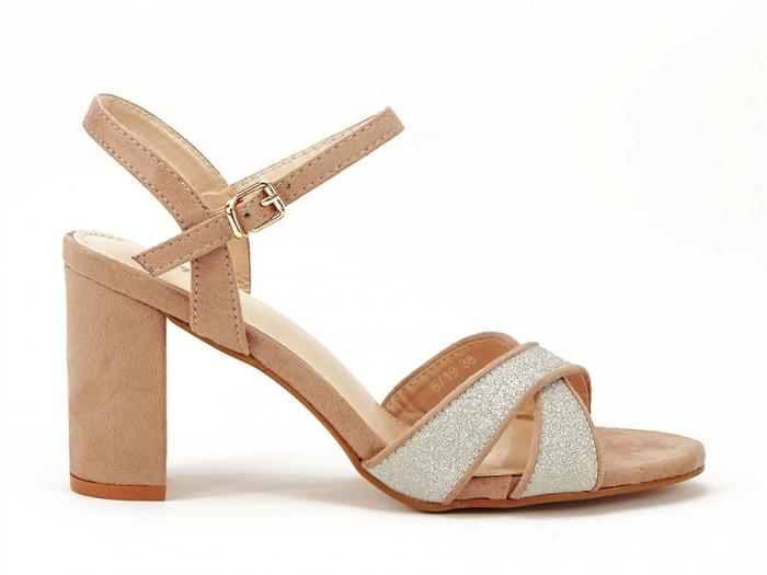 Sandalele elegante bej Carmen 0