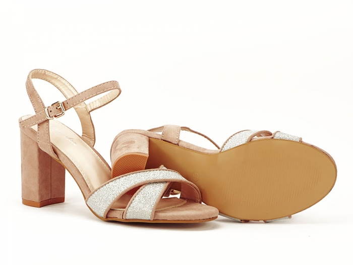 Sandalele elegante bej Carmen 7