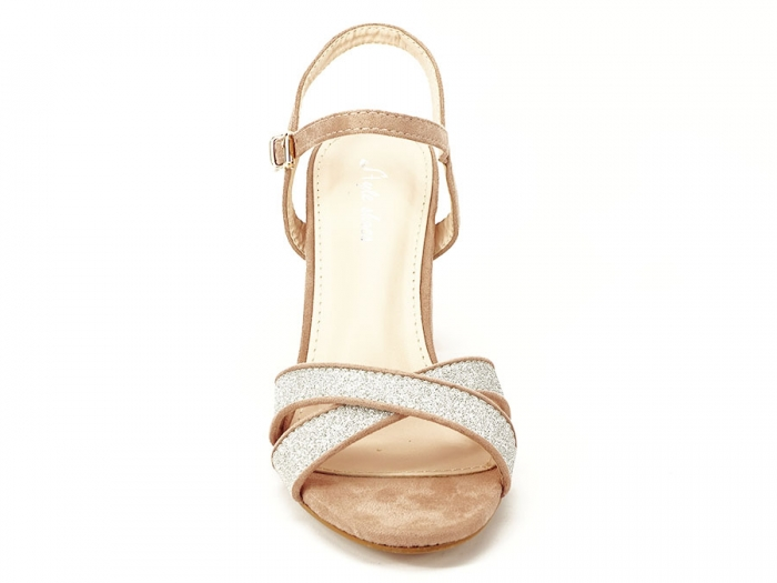 Sandalele elegante bej Carmen 4