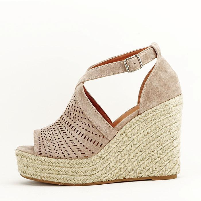 Sandale bej cu platfoma Jasmine [2]