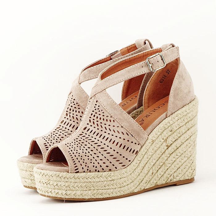 Sandale bej cu platfoma Jasmine [1]