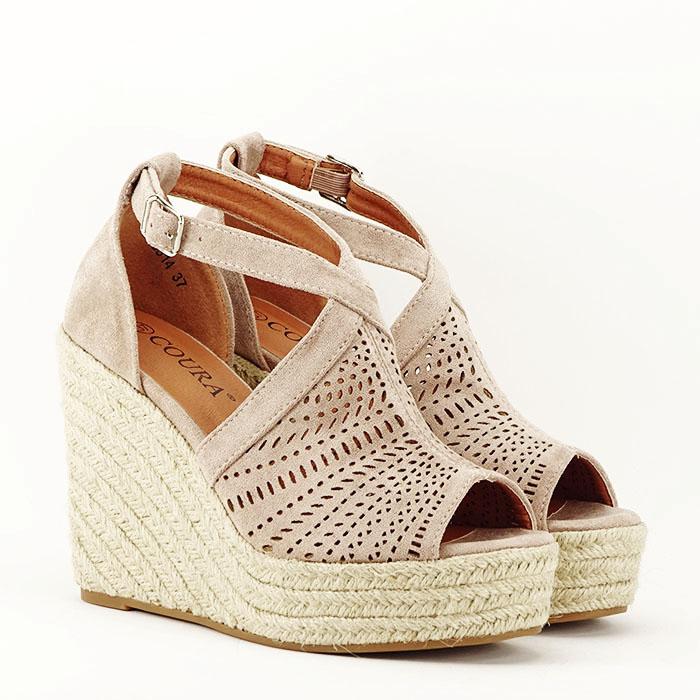 Sandale bej cu platfoma Jasmine [3]