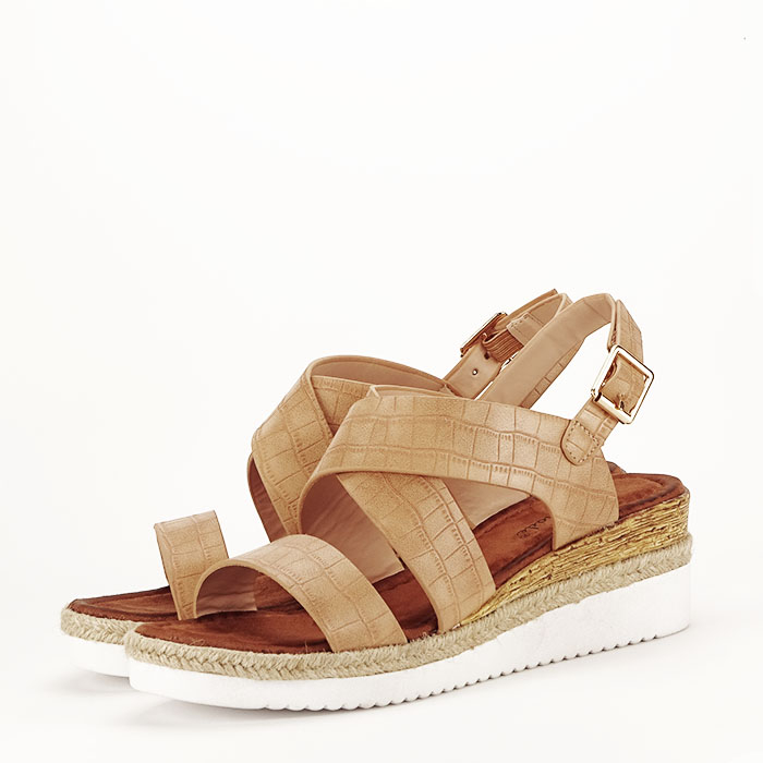 Sandale bej cu platforma Odessa 1