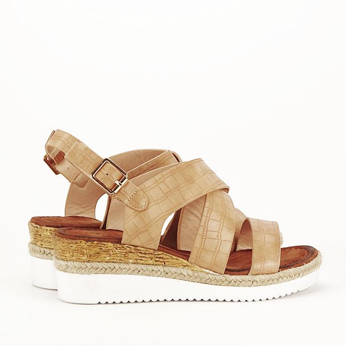 Sandale bej cu platforma Odessa 4