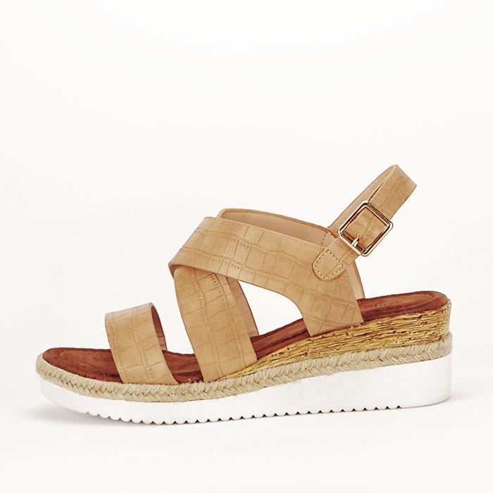 Sandale bej cu platforma Odessa 0