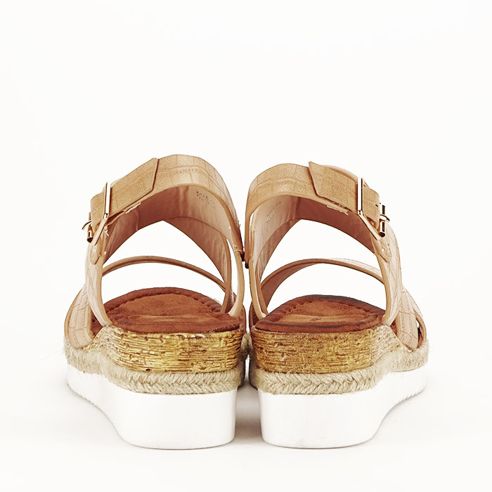 Sandale bej cu platforma Odessa 3