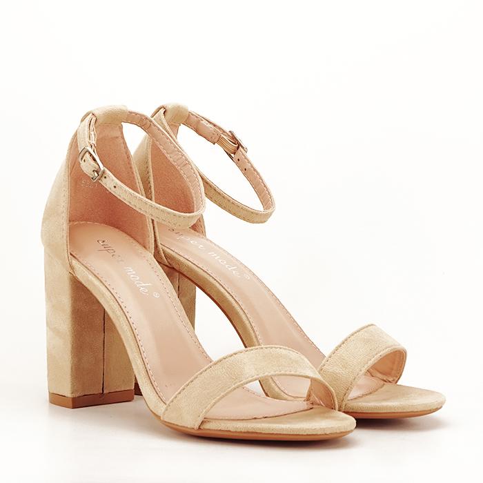 Sandale bej cu toc inalt Flavia 5