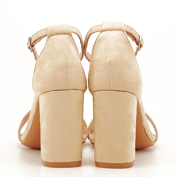 Sandale bej cu toc inalt Flavia 7