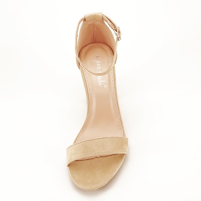 Sandale bej cu toc inalt Flavia 2