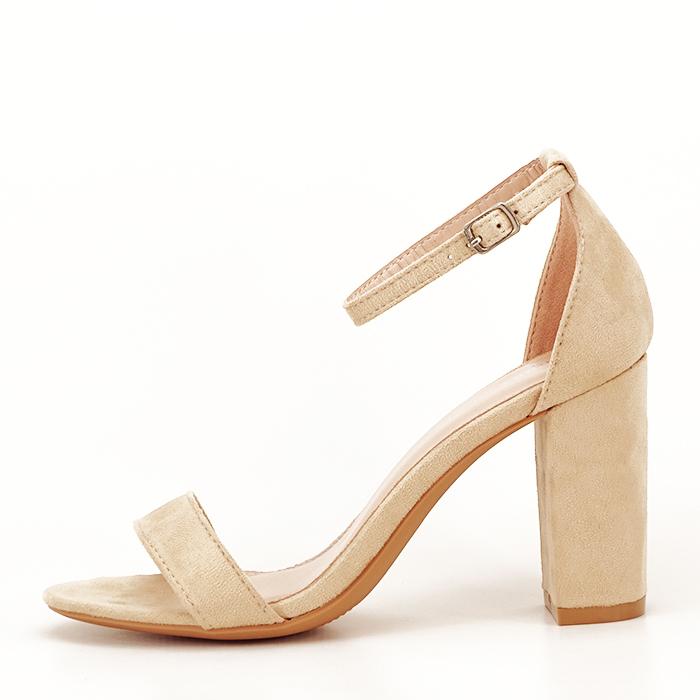 Sandale bej cu toc inalt Flavia 1