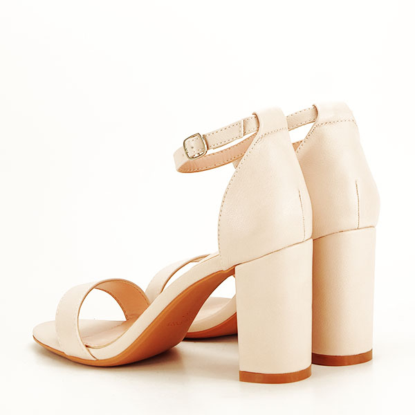 Sandale bej cu toc gros Ingrid [3]
