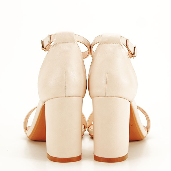 Sandale bej cu toc gros Ingrid [5]