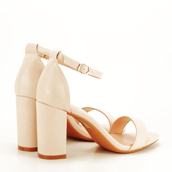 Sandale bej cu toc gros Ingrid [4]