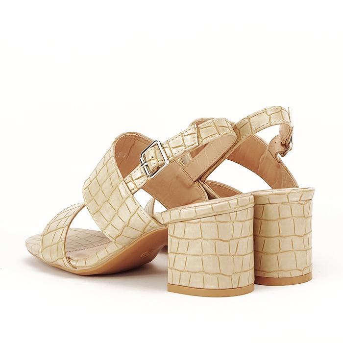 Sandale bej cu toc mic Edith [3]