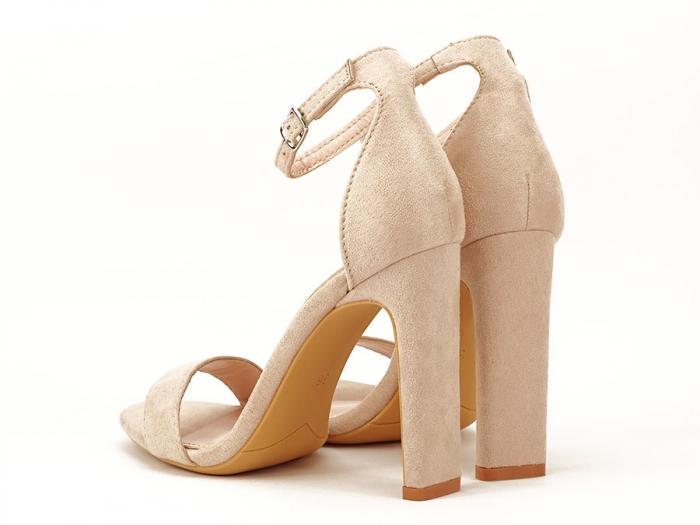 Sandalele elegante bej cu toc inalt Anda 6
