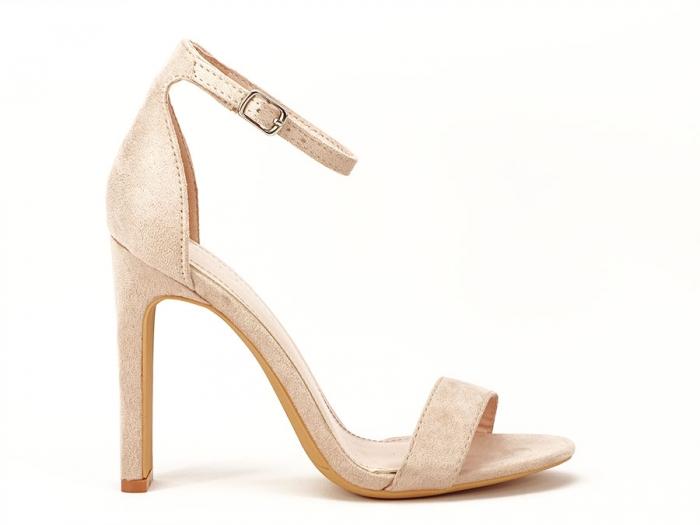 Sandalele elegante bej cu toc inalt Anda 0