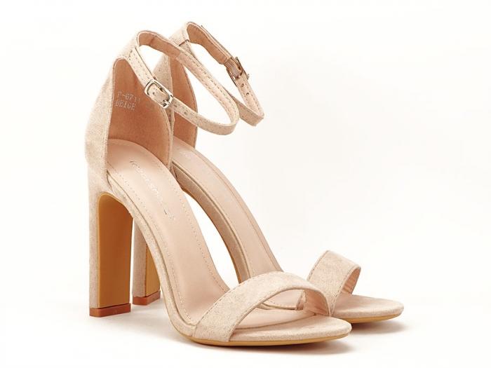 Sandalele elegante bej cu toc inalt Anda 1