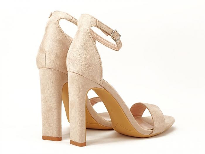 Sandalele elegante bej cu toc inalt Anda 2