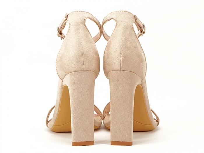 Sandalele elegante bej cu toc inalt Anda 3