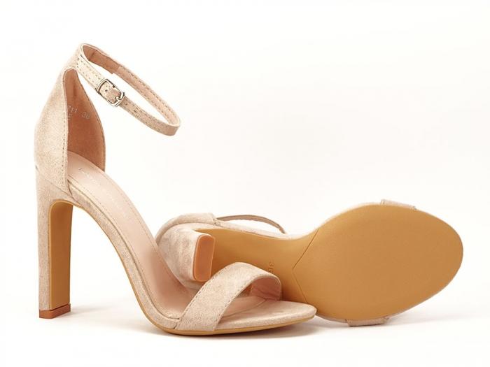 Sandalele elegante bej cu toc inalt Anda 5
