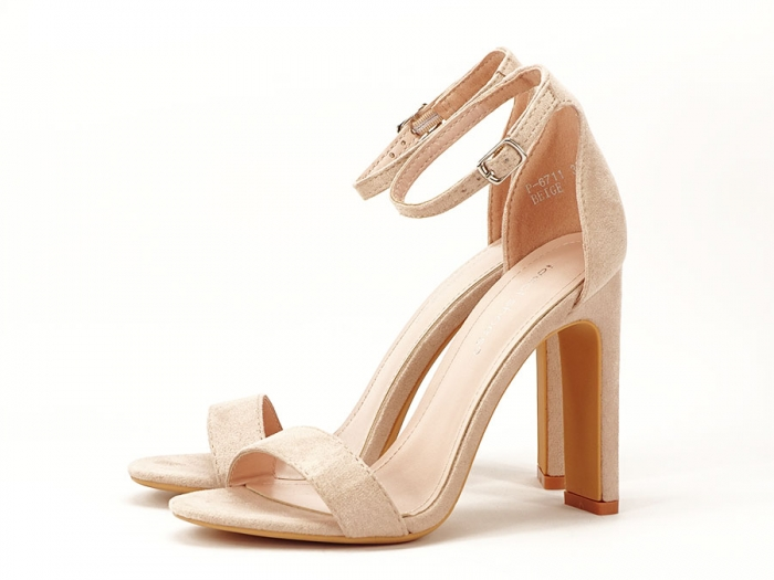 Sandalele elegante bej cu toc inalt Anda 4