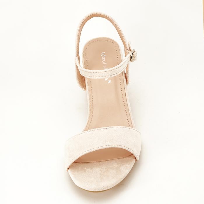 Sandale bej cu toc mic Vanesa 3