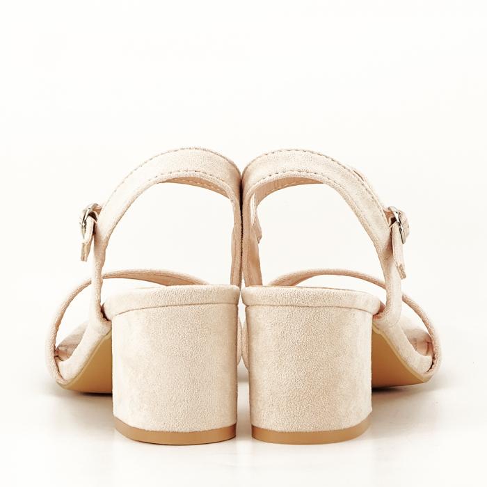 Sandale bej cu toc mic Vanesa 4