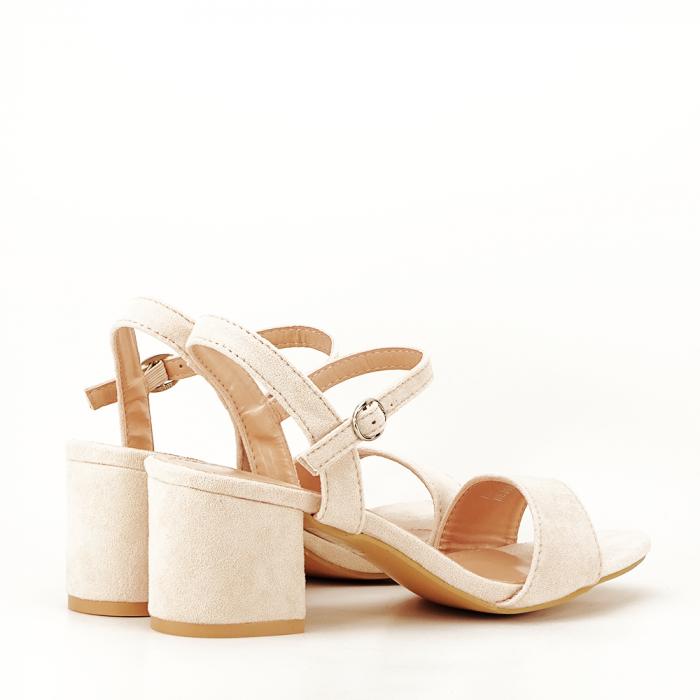 Sandale bej cu toc mic Vanesa 2