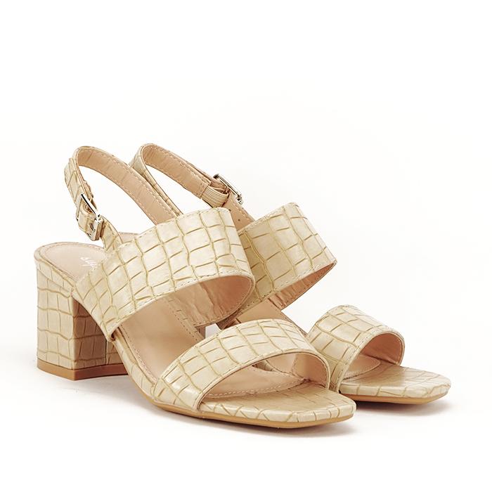 Sandale bej cu toc mic Edith [1]