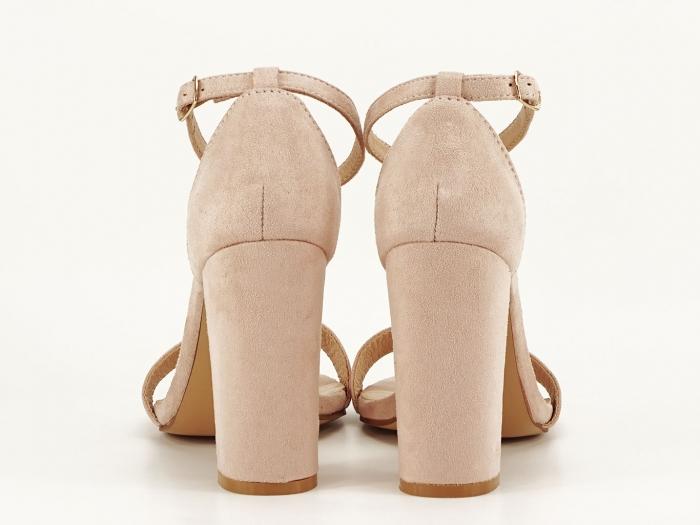 Sandale dama bej cu toc gros Mathilde 1