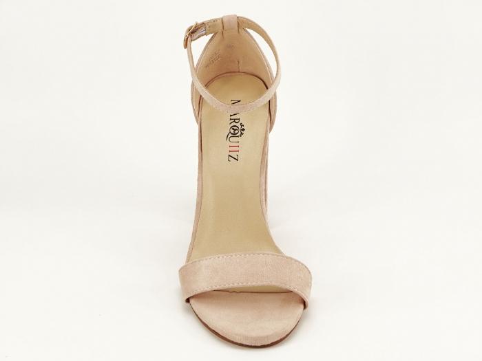 Sandale dama bej cu toc gros Mathilde 2