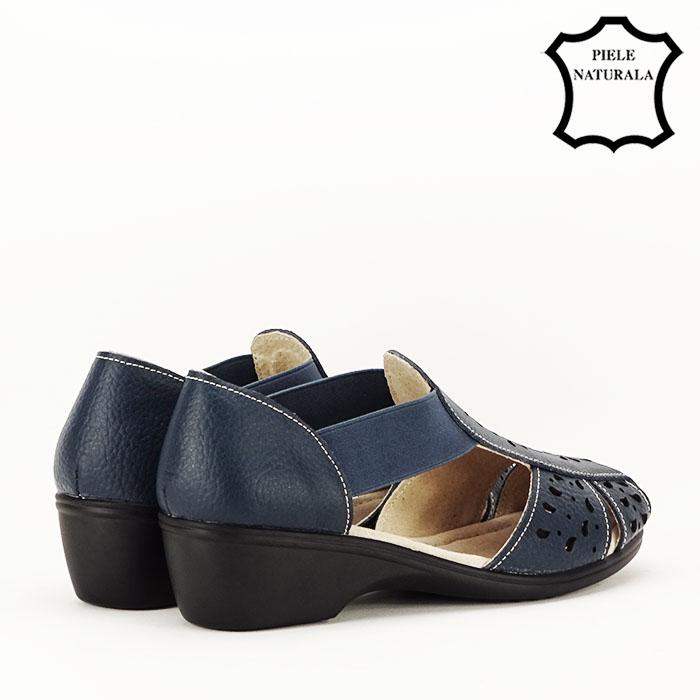 Sandale bleumarin din piele naturala Ozana 7