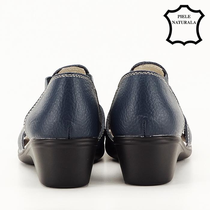 Sandale bleumarin din piele naturala Calypso [4]