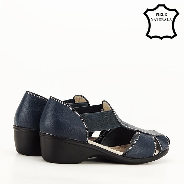 Sandale bleumarin din piele naturala Calypso [3]
