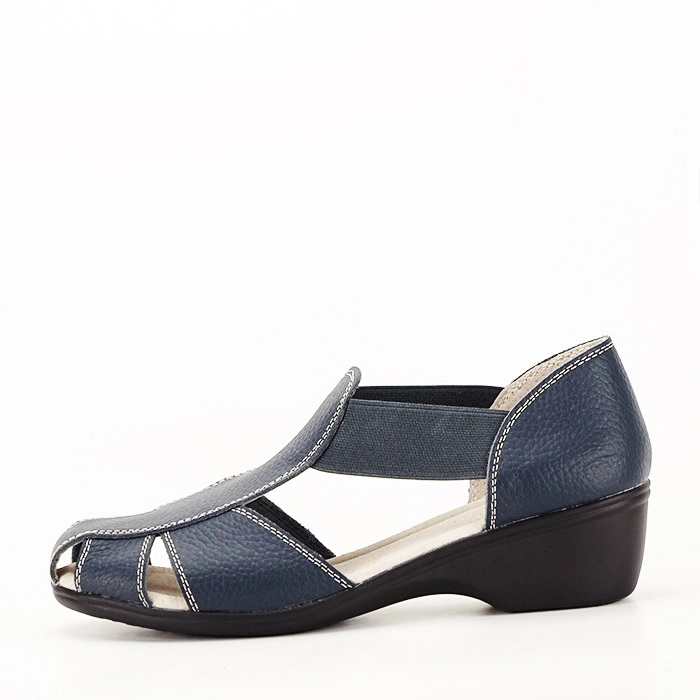 Sandale bleumarin din piele naturala Calypso [0]