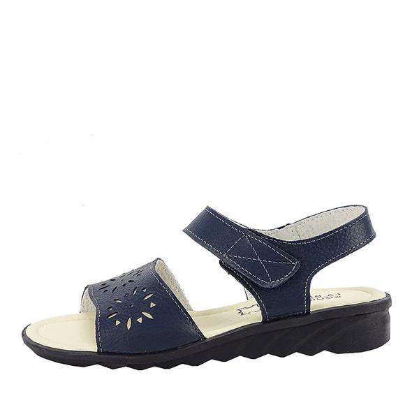 Sandale bleumarin din piele naturala Catis 0