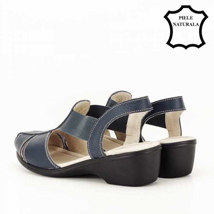 Sandale bleumarin din piele naturala Codruta 6