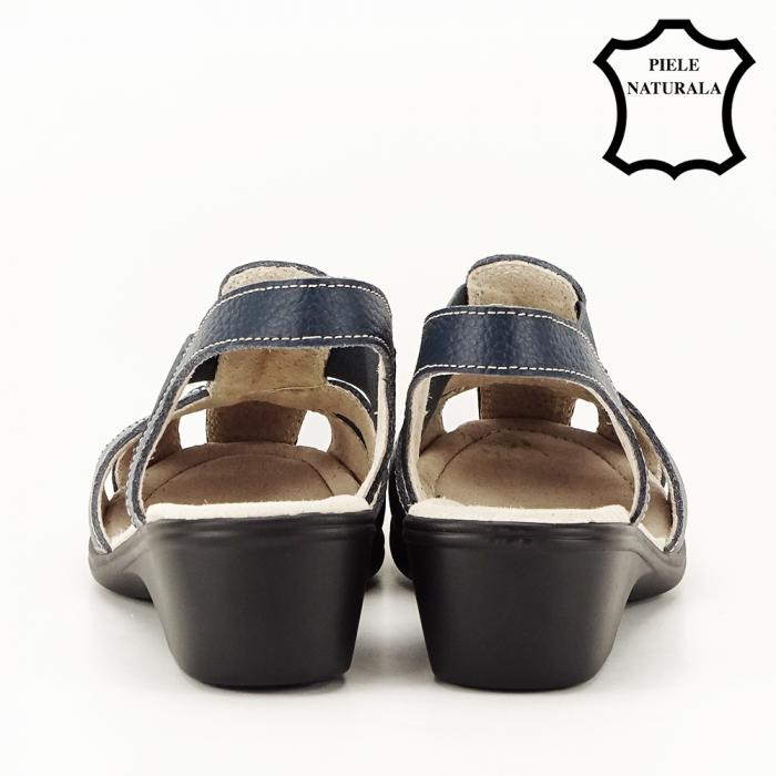 Sandale bleumarin din piele naturala Codruta 4