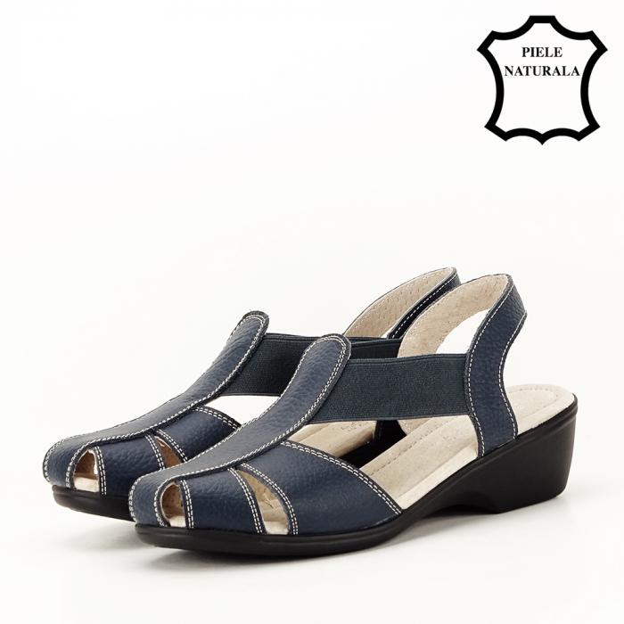 Sandale bleumarin din piele naturala Codruta 1