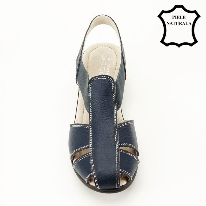 Sandale bleumarin din piele naturala Codruta 2