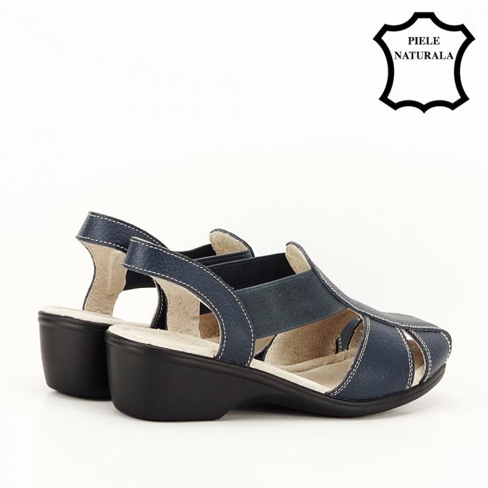 Sandale bleumarin din piele naturala Codruta 3