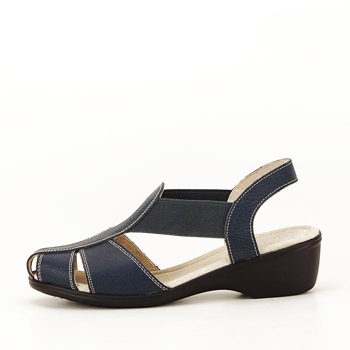 Sandale bleumarin din piele naturala Codruta 0
